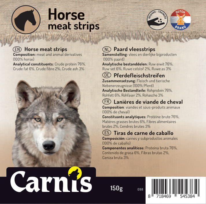 098a sticker klein paard vleesstrips 905x90cmvoorzijde