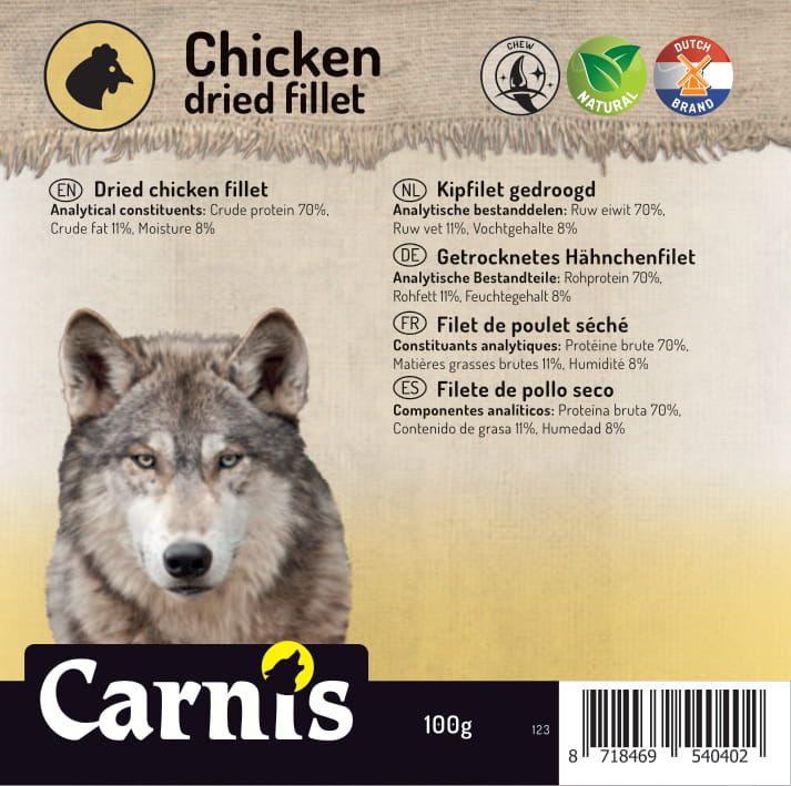 123v sticker klein kipfilet gedroogd 100g 905x90mmvoorzijde