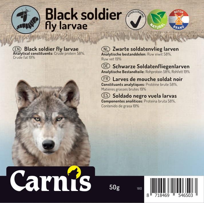 180 sticker klein zwarte soldatenvlieg larven 50g 905x90mm1