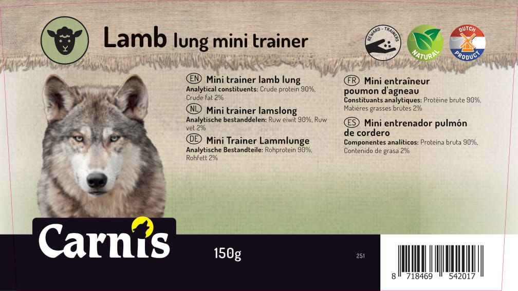 251v sticker emmer mini trainer lamslong 150g 128x72mm