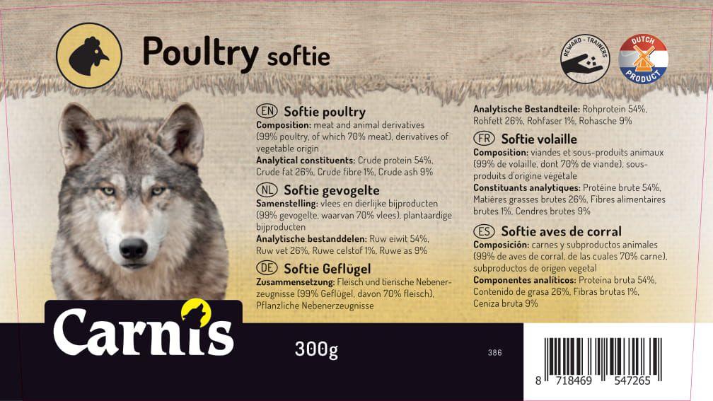 386a sticker emmer softie gevogelte 300g 128x72mmakkoord202011021