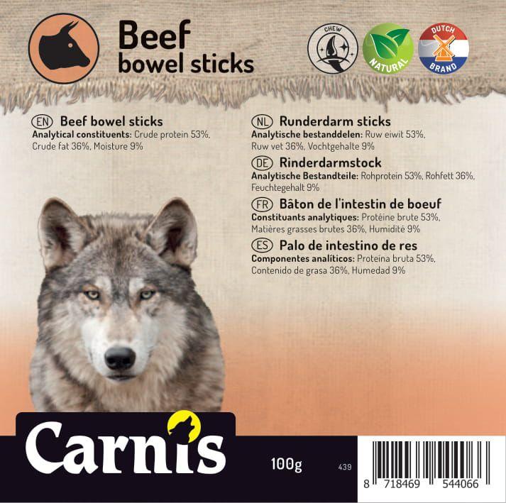 beef bowel sticks 5 x 100g