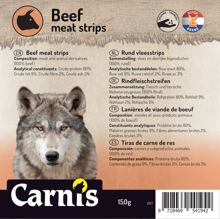 beef meat strips 5 x 150g