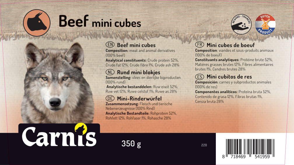 beef mini cubes 8 x 350g bucket