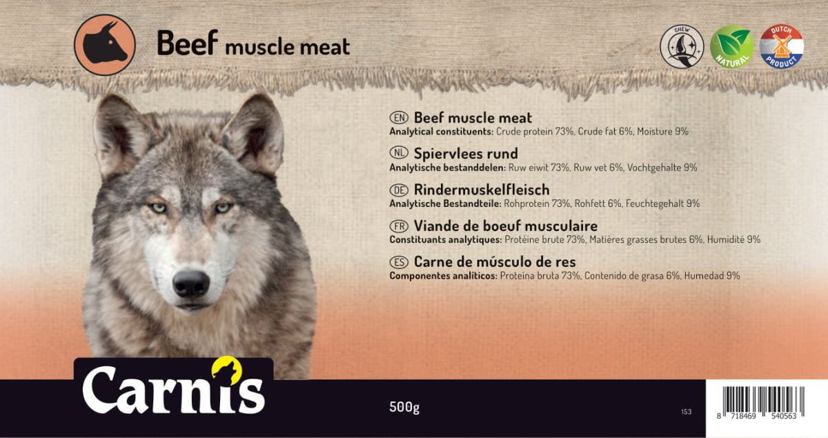 beef muscle meat 5 x 500g
