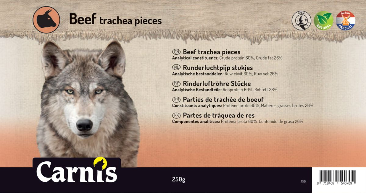 beef trachea pieces 5 x 250g