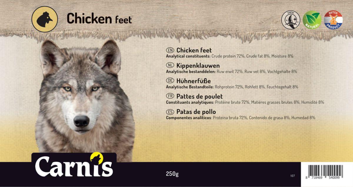 chicken feet 5 x 250g