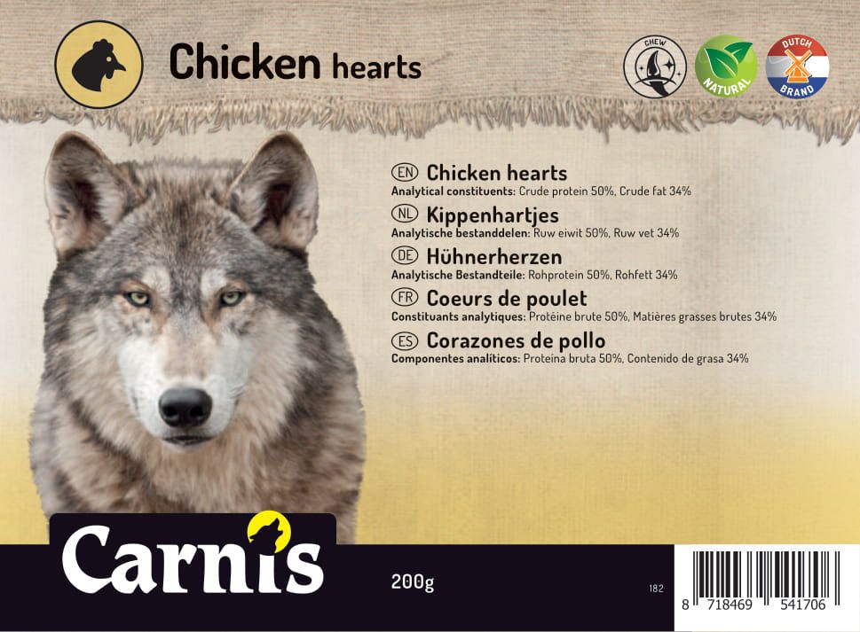 chicken hearts 5 x 200g
