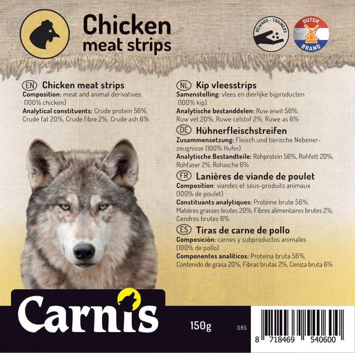 chicken meat strips 5 x 150g