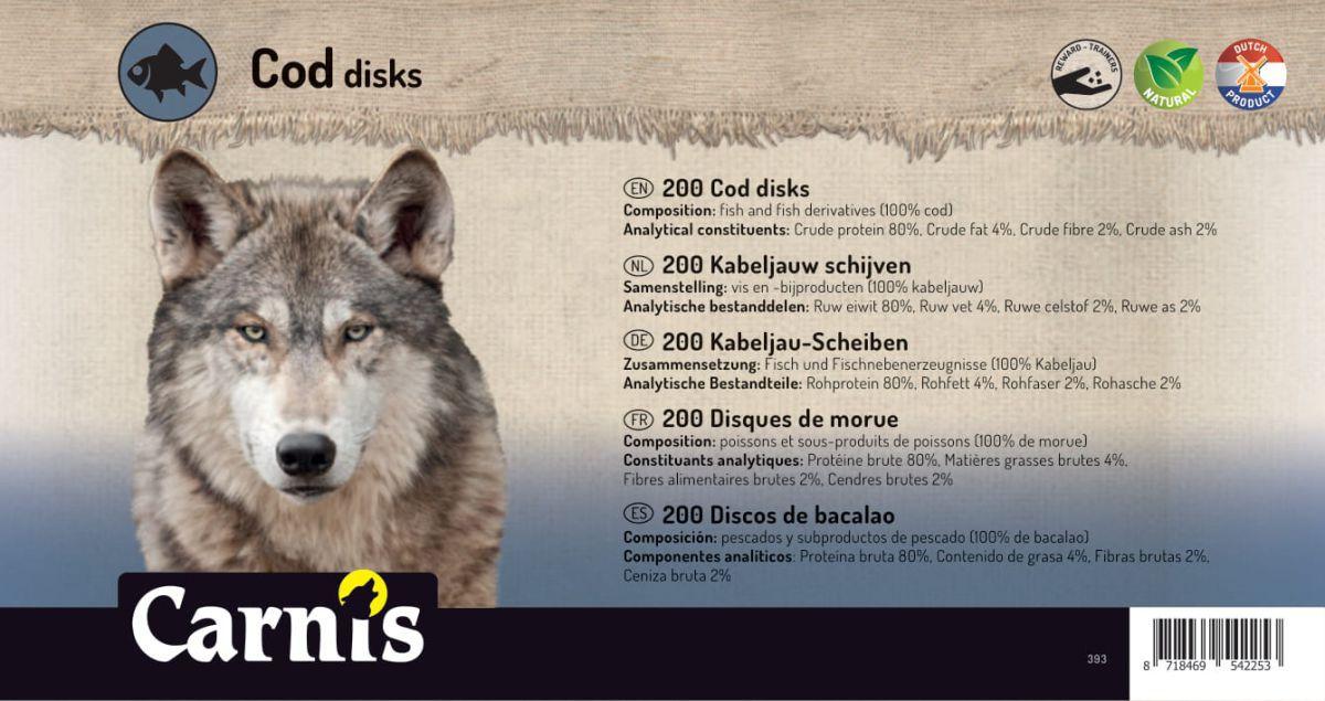 disques de morue 200 pices