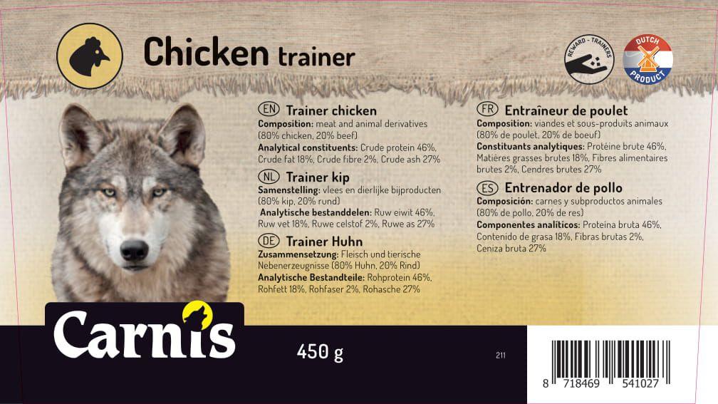 entrenador de pollo 8 x 450g cubeta