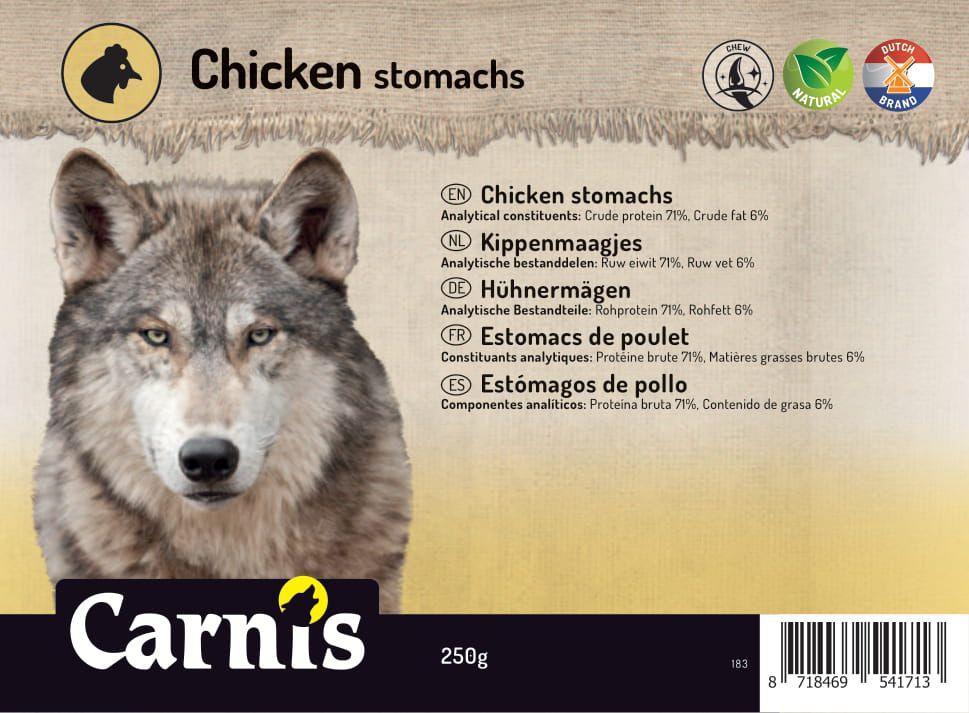 estomacs de poulet 5 x 250g