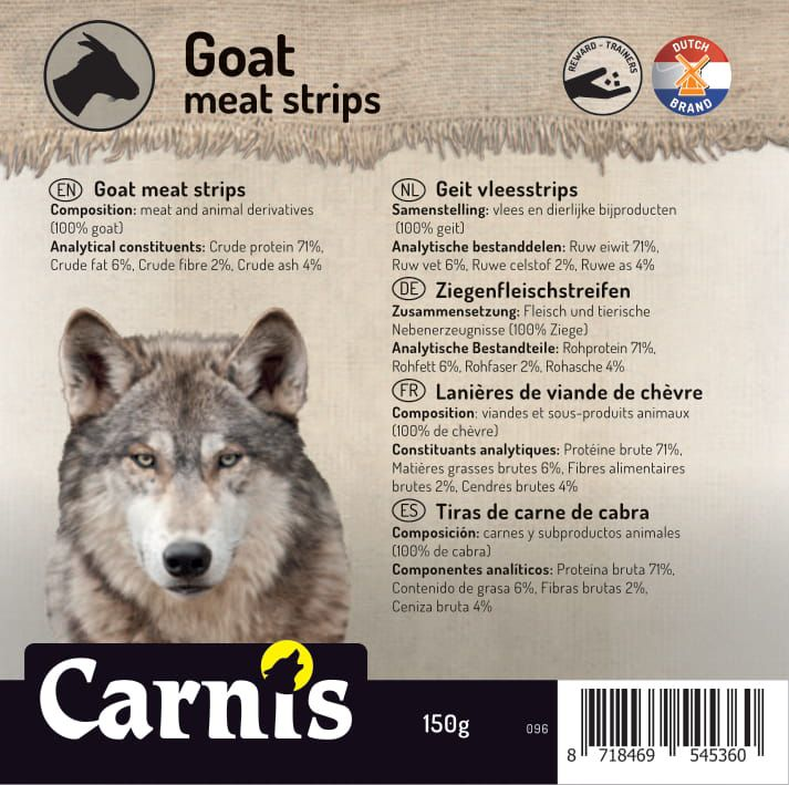 goat meat strips 5 x 150g