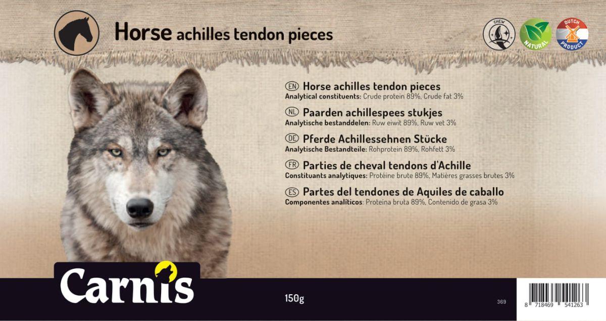 horse achilles tendon pieces 5 x 150g