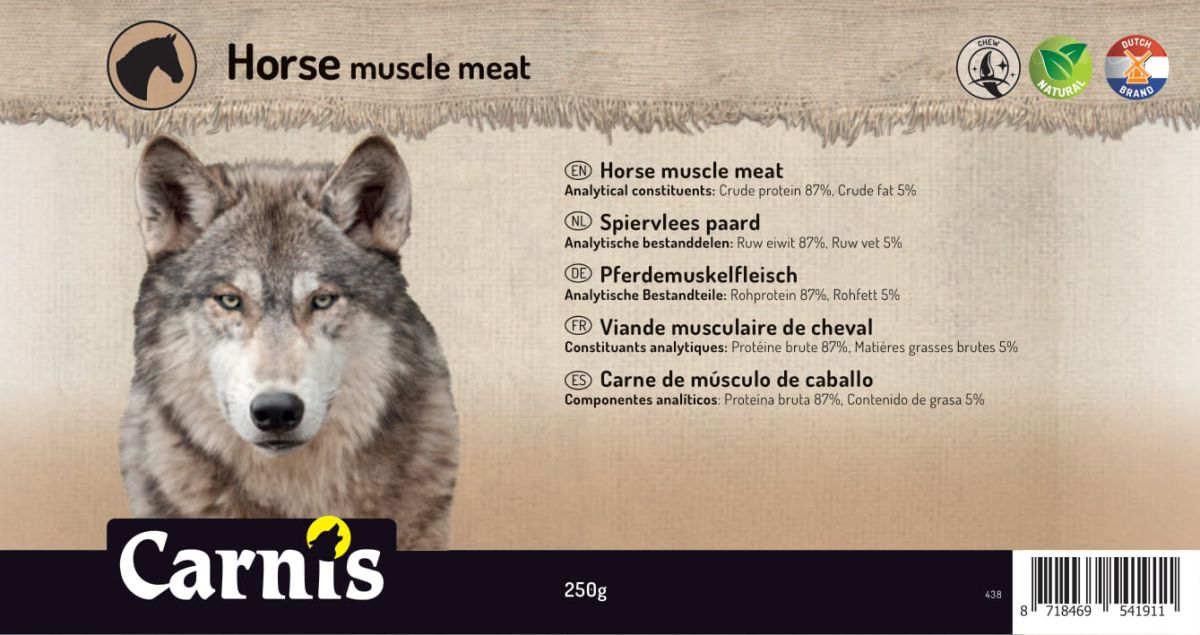 horse muscle meat 5 x 250g