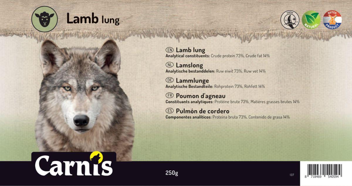 lamb lung 5 x 250g