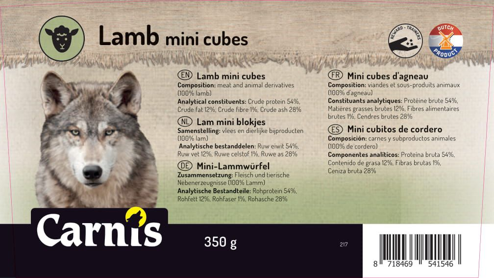 lamb mini cubes 8 x 350g bucket
