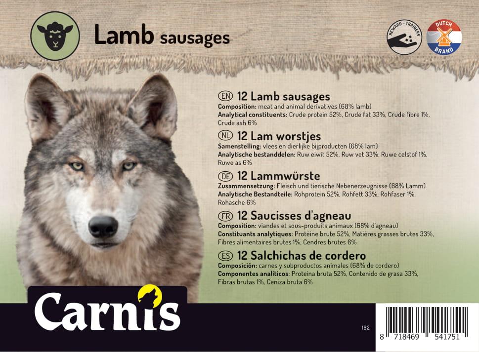 lamb sausages 5 x 12 pieces