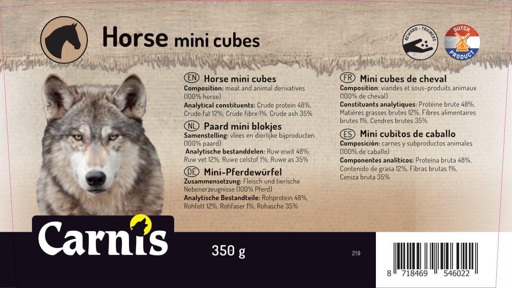 mini cubes de cheval 8 x 350g seau