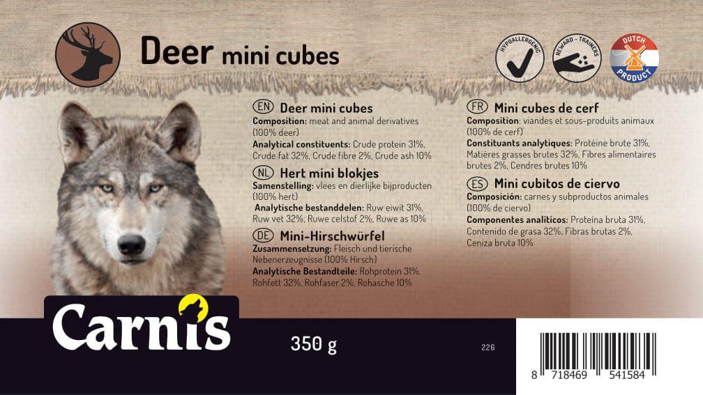 mini cubitos de ciervo 8 x 350g cubeta
