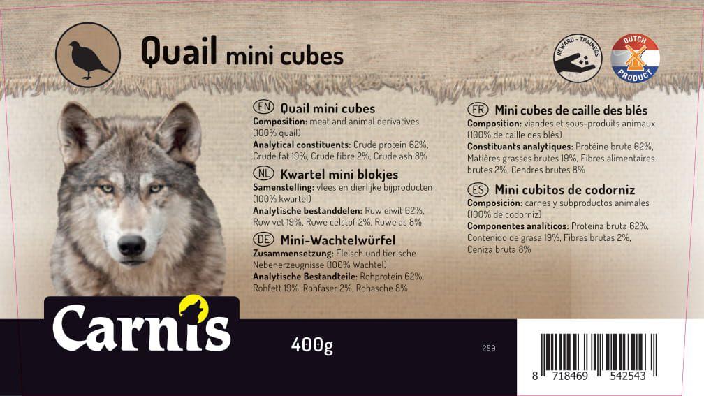 mini cubitos de codorniz 8 x 400g cubeta