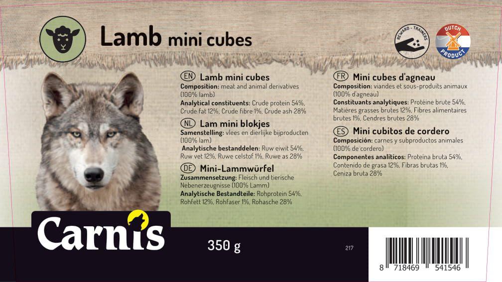 mini cubitos de cordero 8 x 350g cubeta