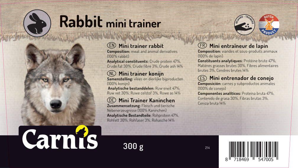 mini entrenador de conejo 8 x 300g cubeta