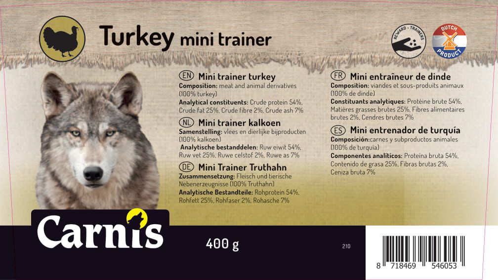 mini trainer truthahn 8 x 400g eimer