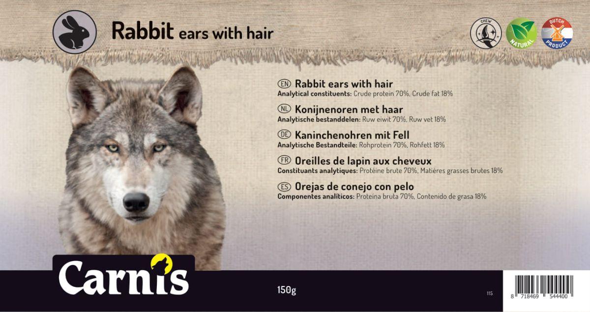 orejas de conejo con pelo 5 x 150g