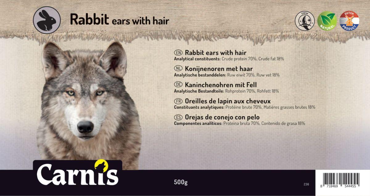 orejas de conejo con pelo 5 x 500g