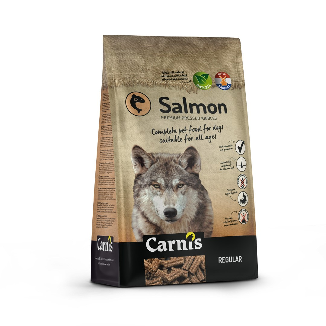 pressed kibbles salmon regular 4kg