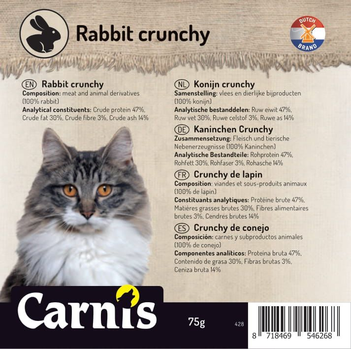 rabbit crunchy 5 x 75g
