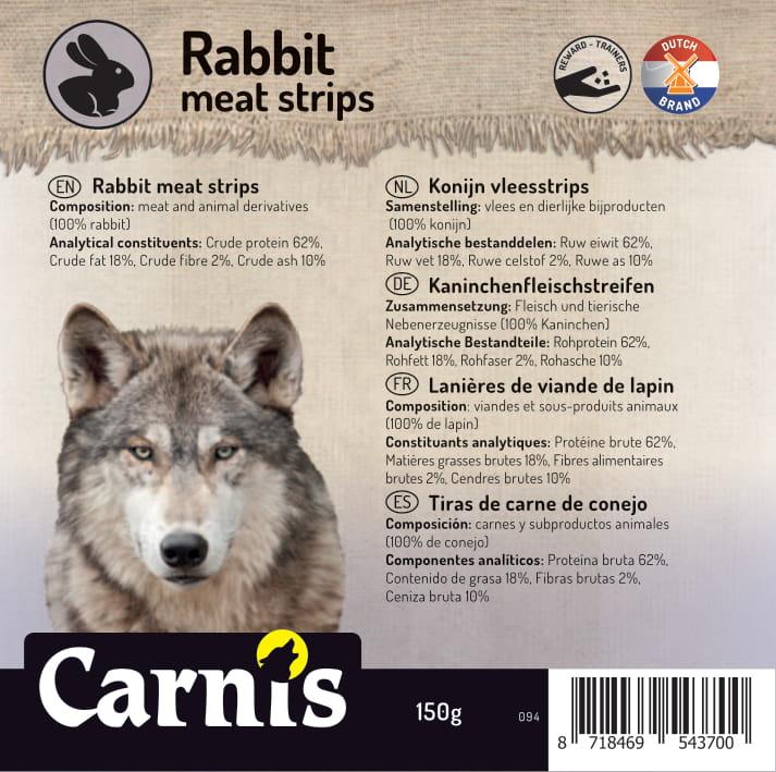 rabbit meat strips 5 x 150g