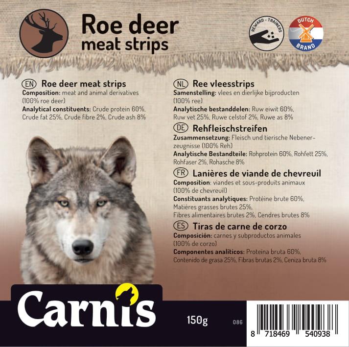 roe deer meat strips 5 x 150g