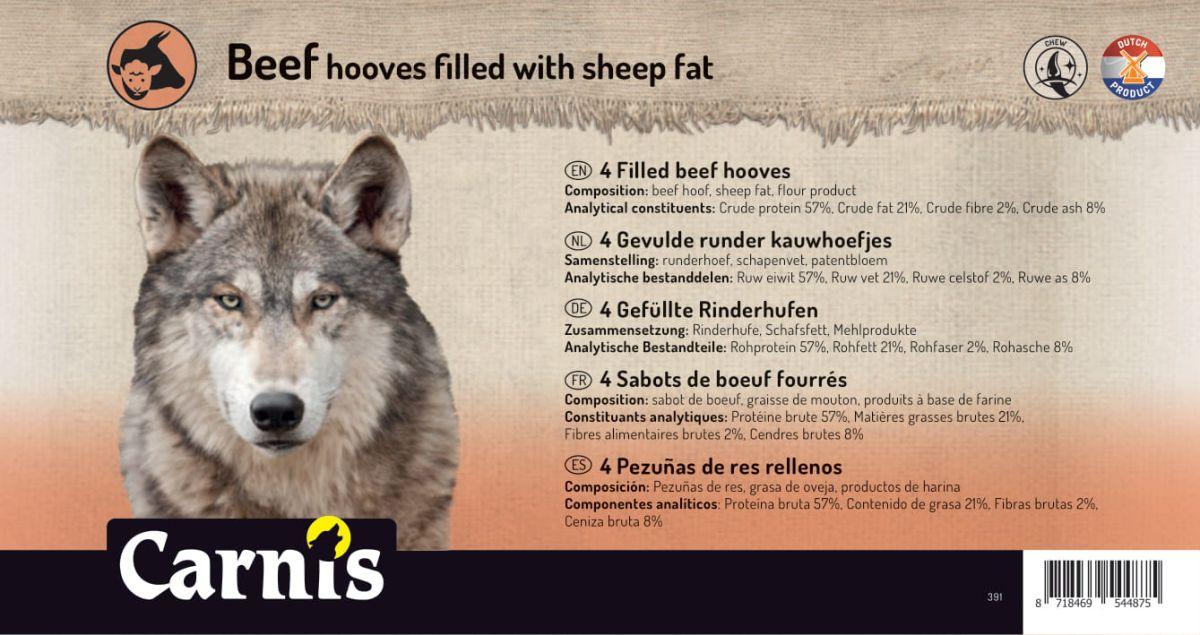 sabots de boeuf fourrs graisse de mouton 5 x 4 pices