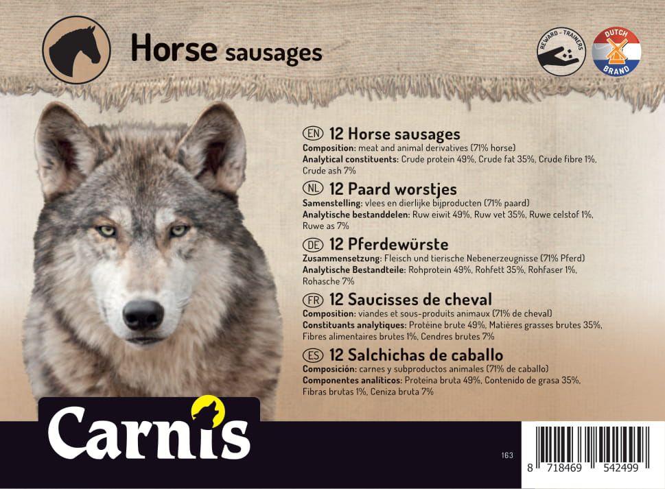 salchichas de caballo 5 x 12 piezas