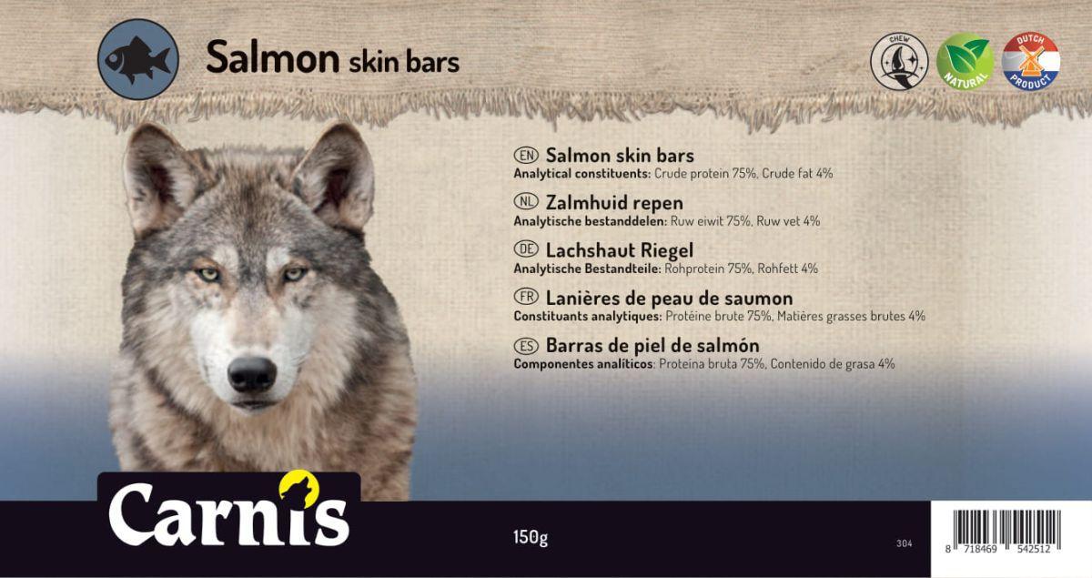 salmon skin bars 5 x 150g