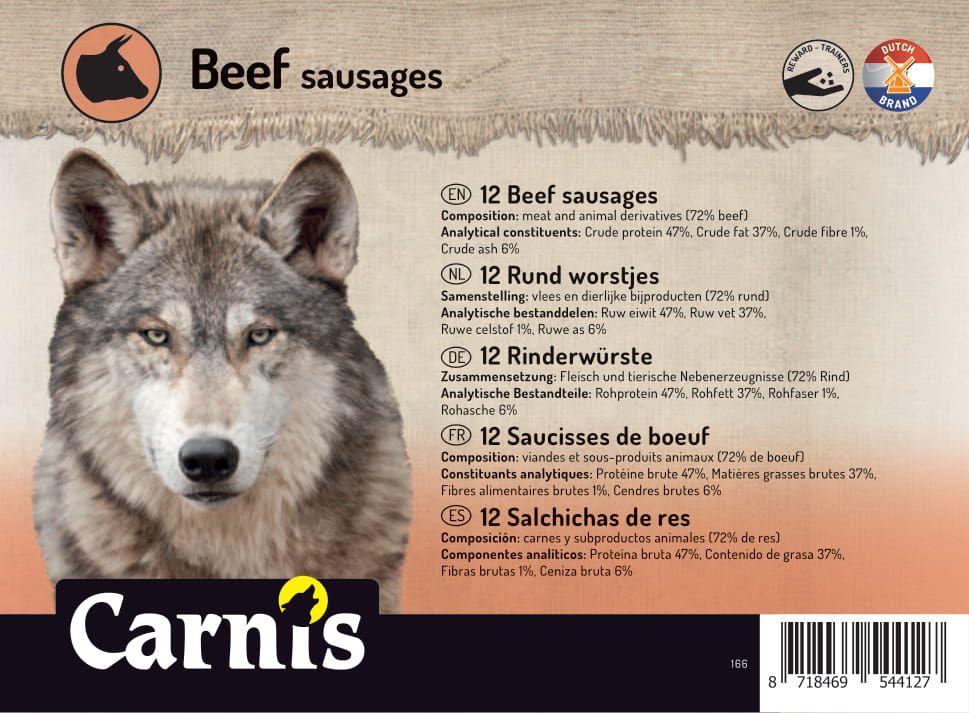 saucisses de boeuf 5 x 12 pices