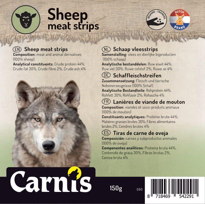 sheep meat strips 5 x 150g