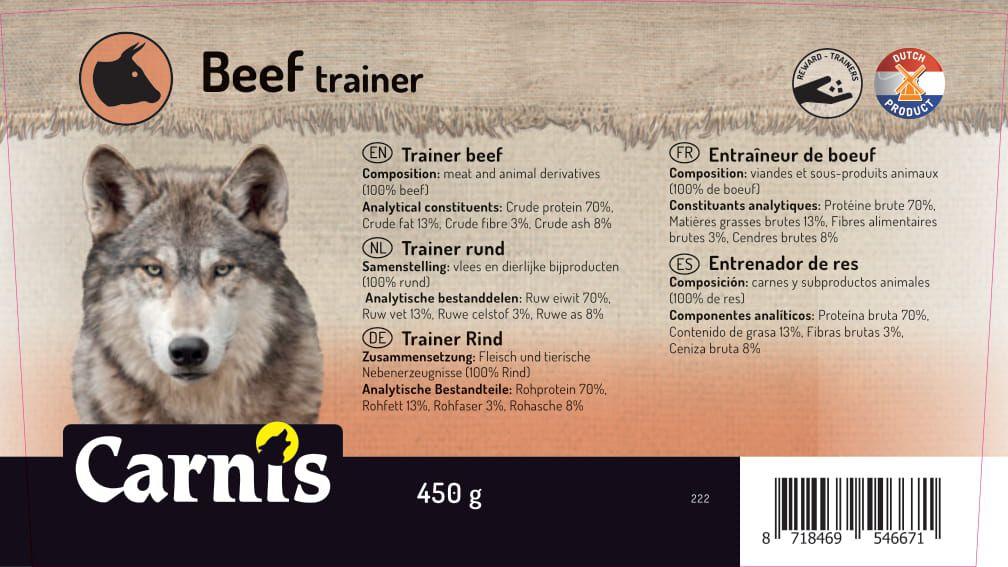trainer beef 8 x 450g bucket