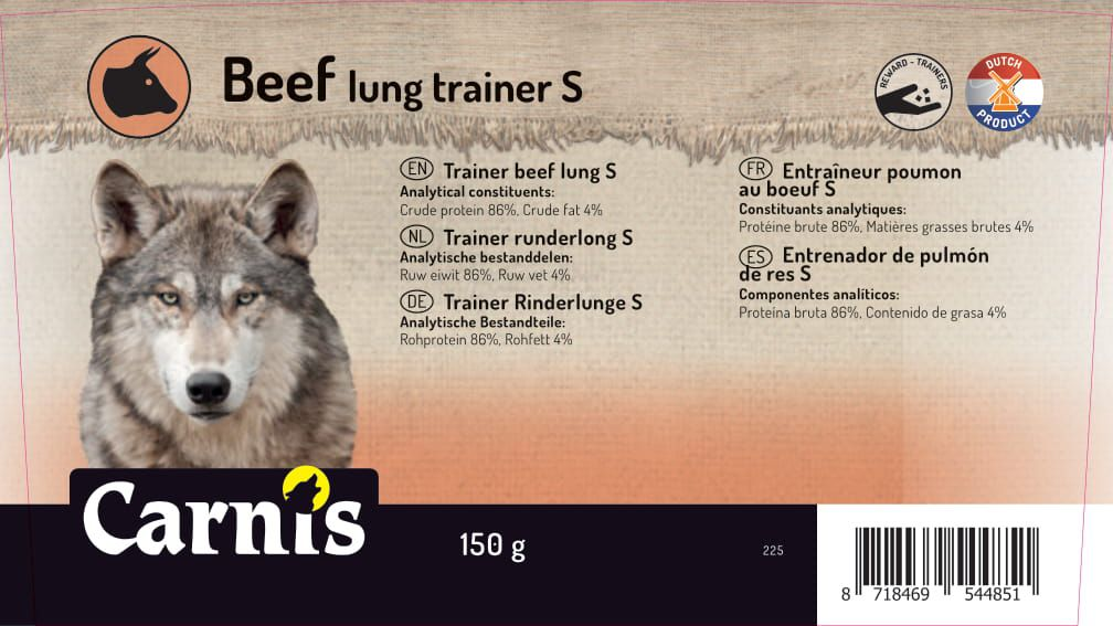 trainer beef lung s 8 x 150g bucket