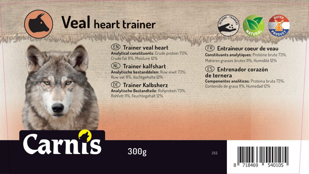 trainer veal heart 8 x 300g