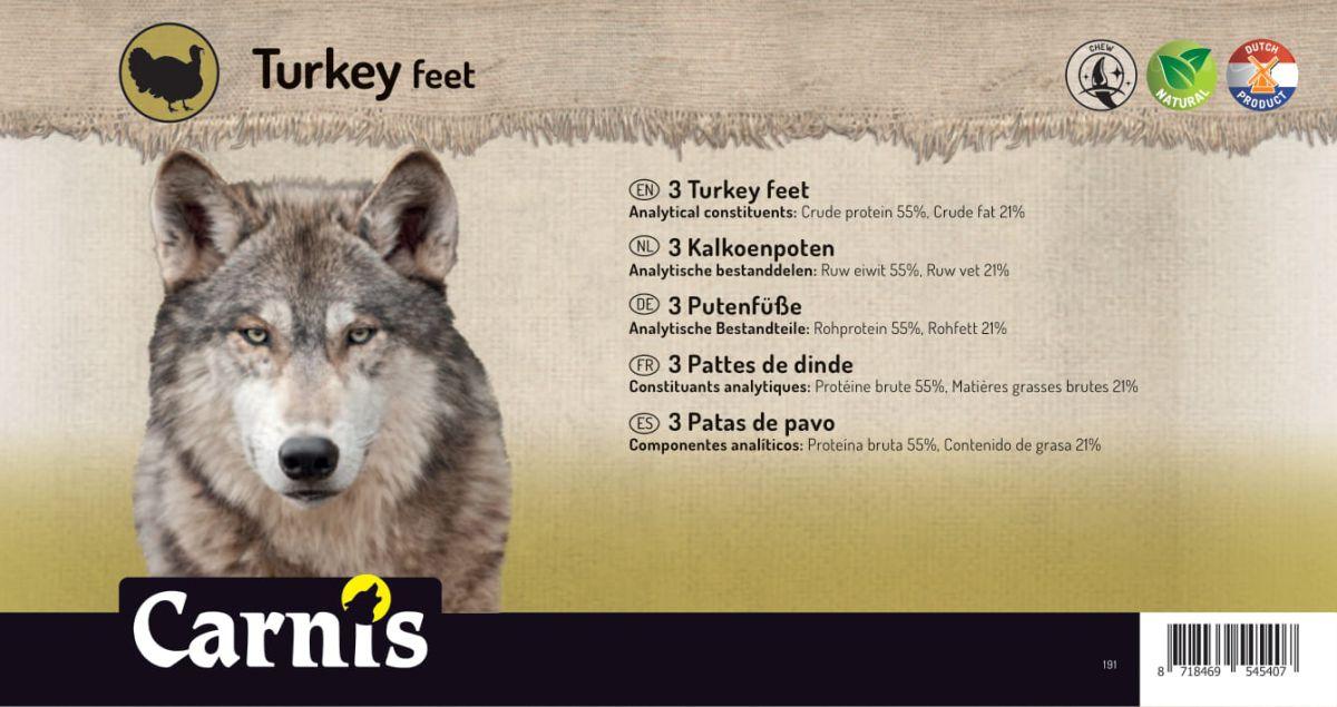 turkey feet 5 x 3 pieces