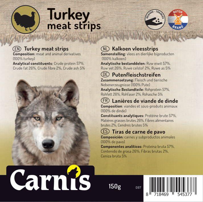 turkey meat strips 5 x 150g