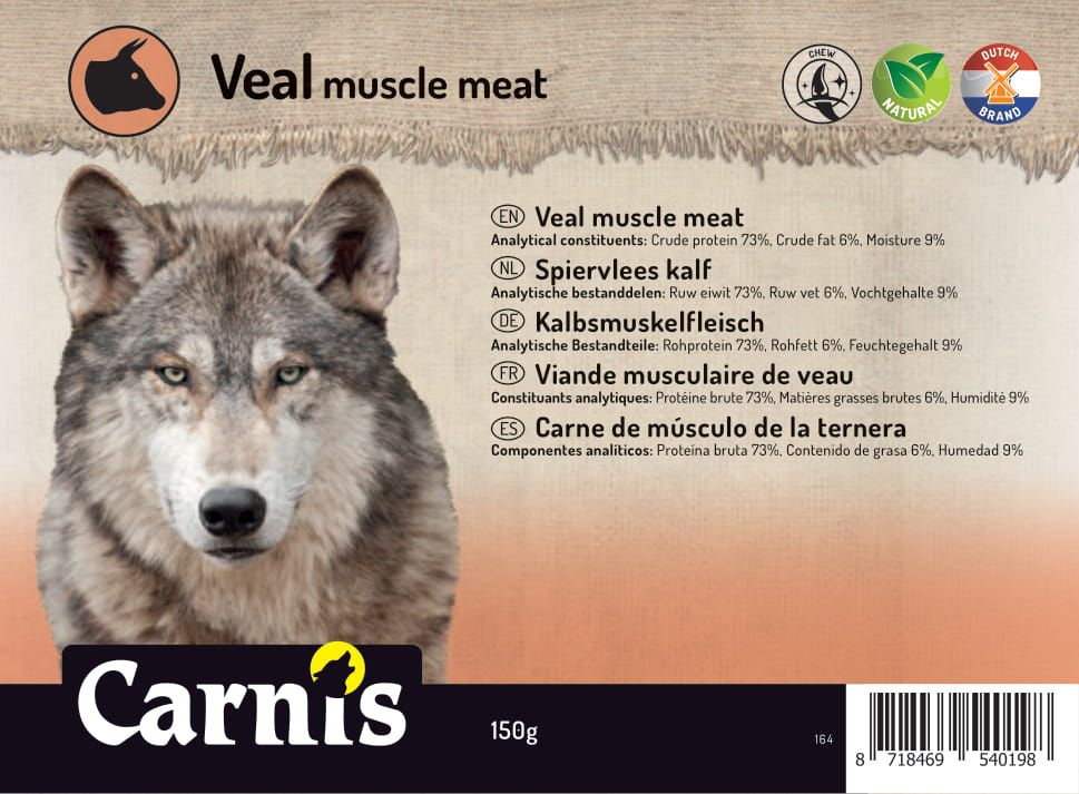 veal muscle meat 5 x 150g