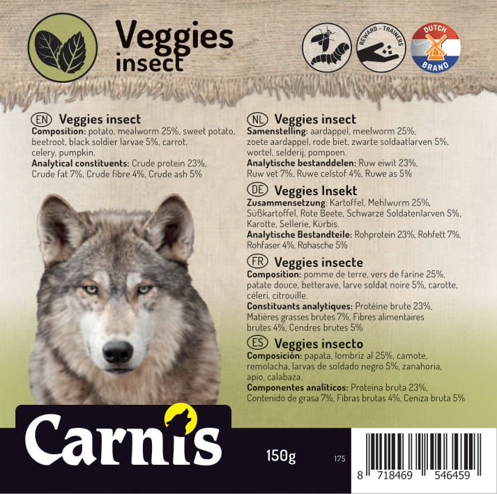 veggies insects 5 x 150g